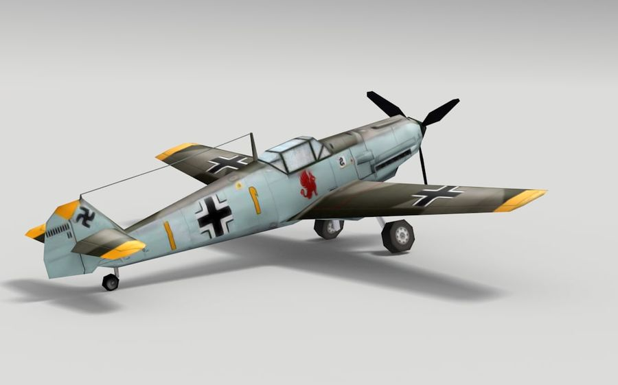 メッサーシュミットBf 109 royalty-free 3d model - Preview no. 4