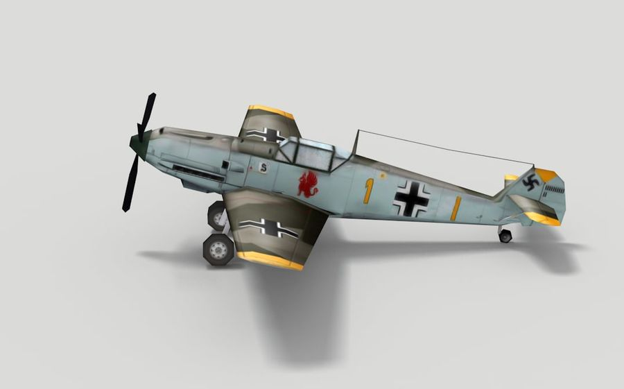 メッサーシュミットBf 109 royalty-free 3d model - Preview no. 2