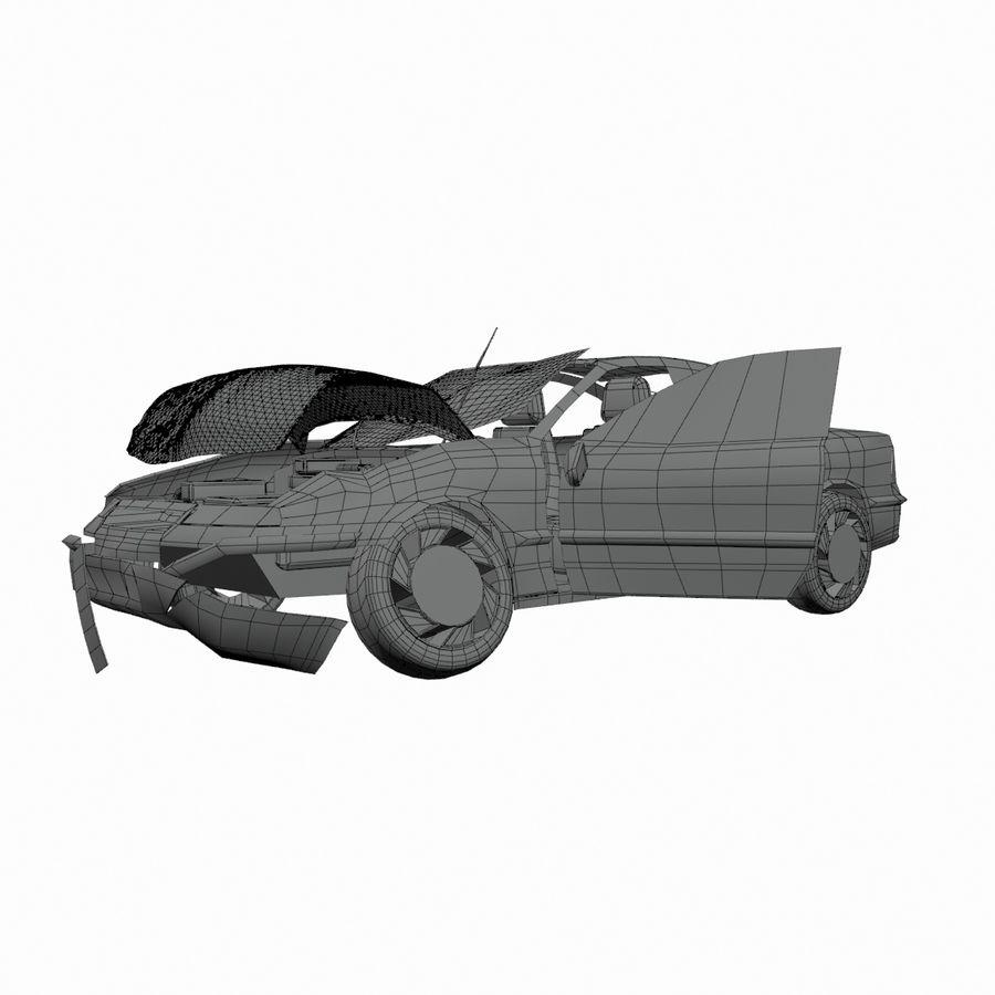 Verpletterde Opel royalty-free 3d model - Preview no. 6