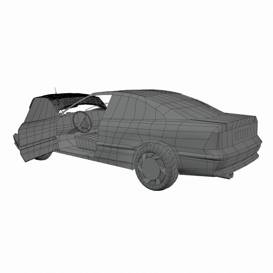 Verpletterde Opel royalty-free 3d model - Preview no. 7
