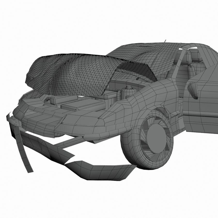 Verpletterde Opel royalty-free 3d model - Preview no. 4