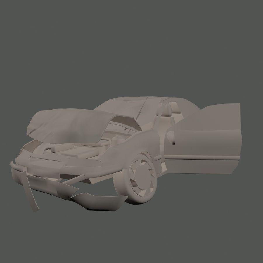 Verpletterde Opel royalty-free 3d model - Preview no. 2