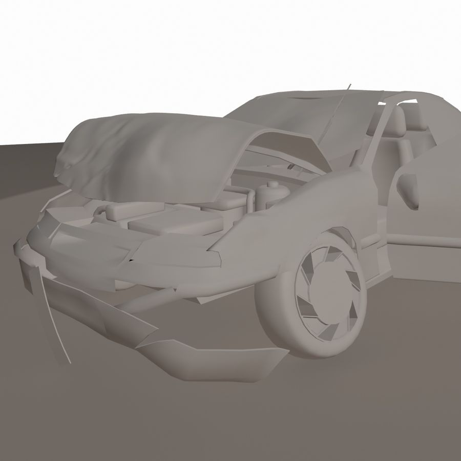 Verpletterde Opel royalty-free 3d model - Preview no. 1