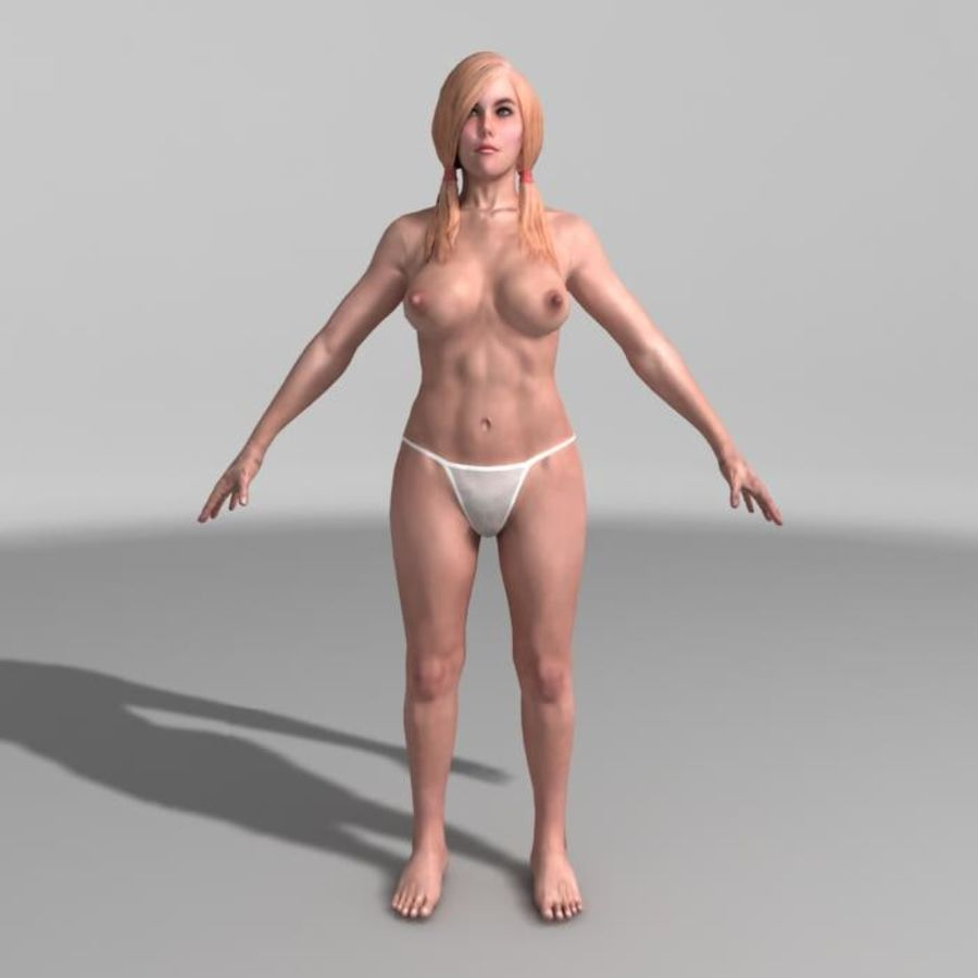 Panties royalty-free 3d model - Preview no. 5