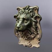 Lion Head Statue 03 3d model
