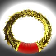 laurel gold wreath 3d model
