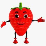 草莓字符 3d model