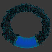 月桂树银花圈 3d model