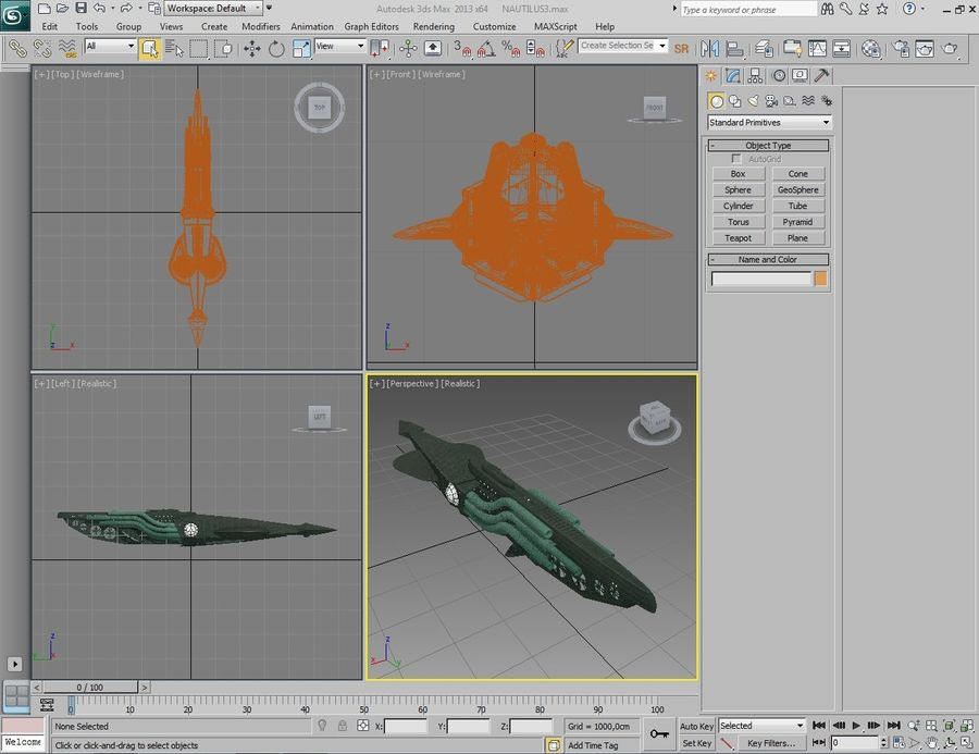 Submarino steampunk royalty-free 3d model - Preview no. 9