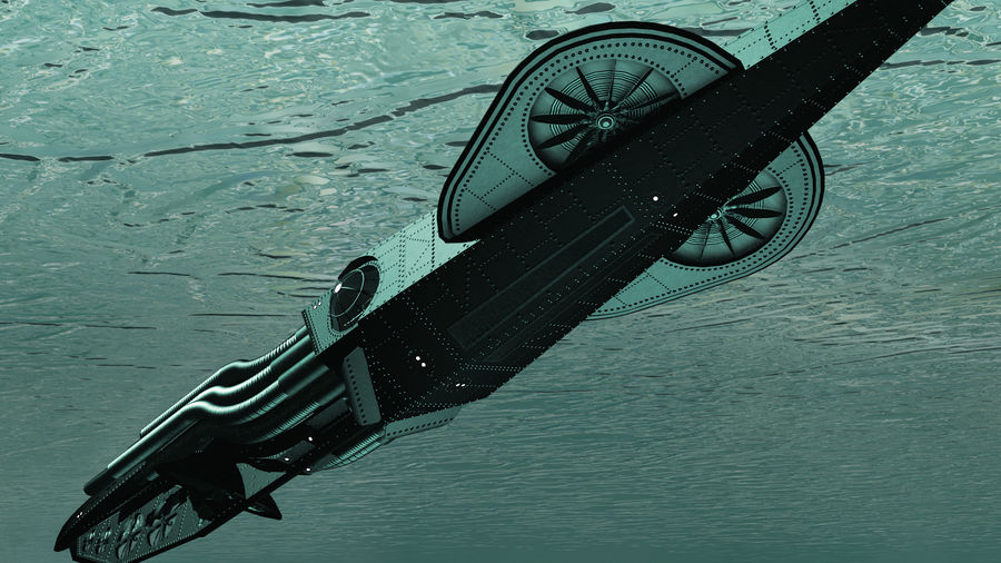 Submarino steampunk royalty-free 3d model - Preview no. 3
