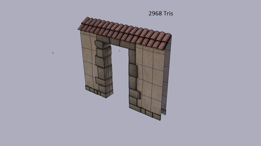 Stone wall royalty-free 3d model - Preview no. 4