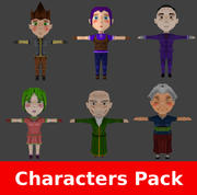 RPG Chibi Characters Pack modelo 3d