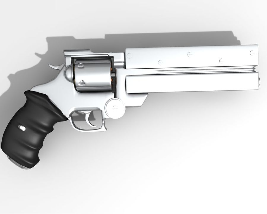 Vashs Gun royalty-free 3d model - Preview no. 2