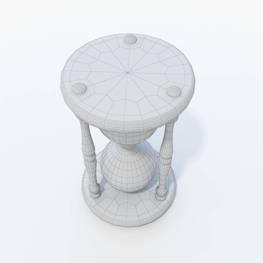Hourglass royalty-free 3d model - Preview no. 8