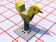Rocking Chicken spielen 3d model