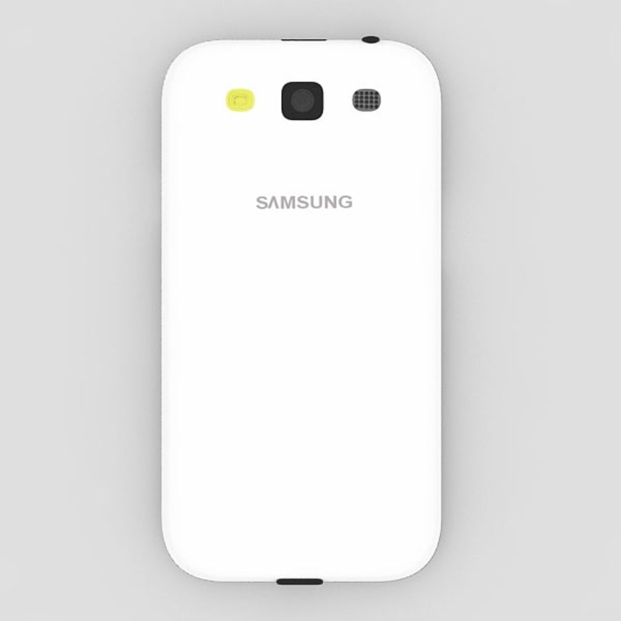 Samsung Galaxy S3 royalty-free 3d model - Preview no. 2