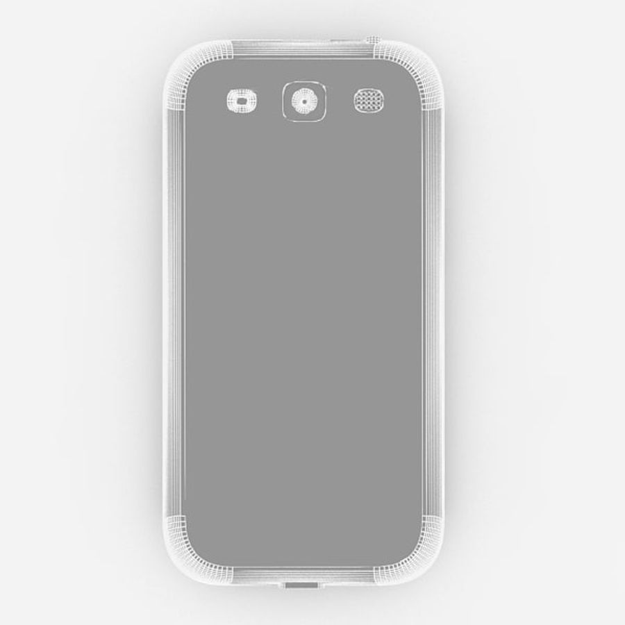 Samsung Galaxy S3 royalty-free 3d model - Preview no. 7