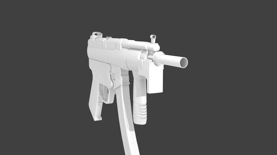 MP5K royalty-free 3d model - Preview no. 4