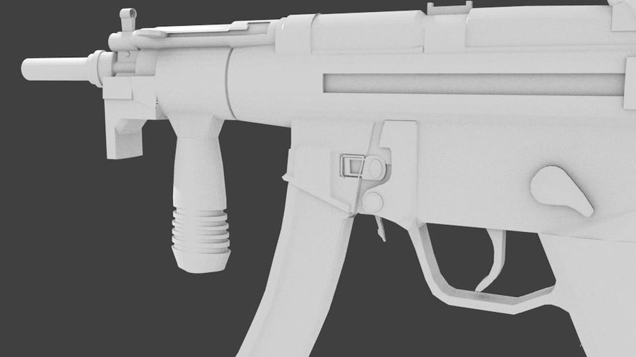 MP5K royalty-free 3d model - Preview no. 2