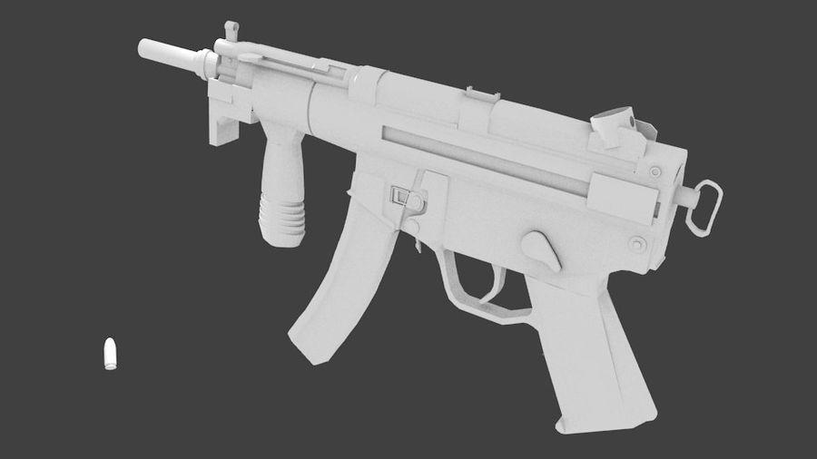 MP5K royalty-free 3d model - Preview no. 1