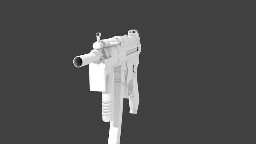 MP5K royalty-free 3d model - Preview no. 5