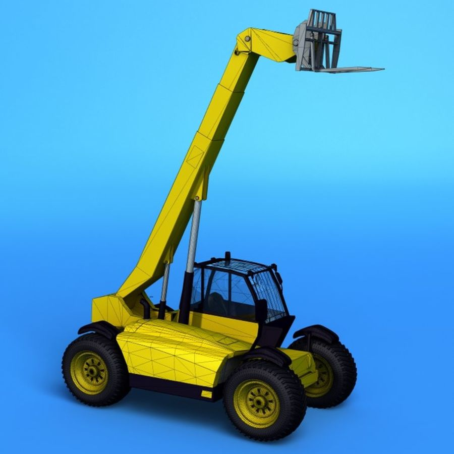 Crane Vehicle royalty-free 3d model - Preview no. 4