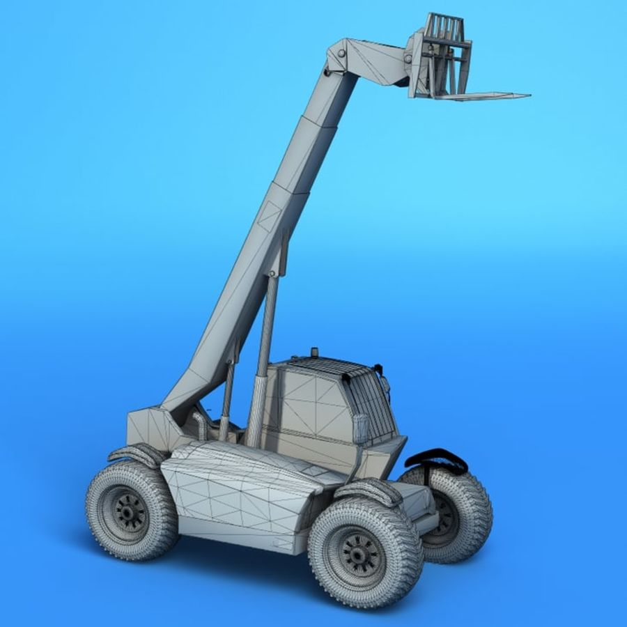Crane Vehicle royalty-free 3d model - Preview no. 5