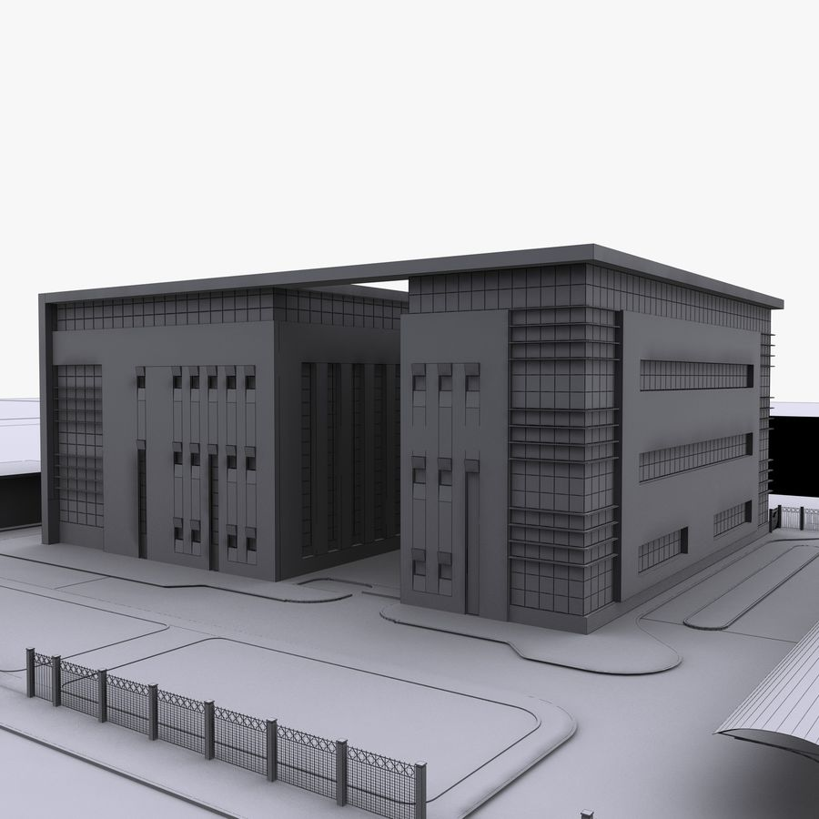 Edificio de oficinas de arquitectura royalty-free modelo 3d - Preview no. 20