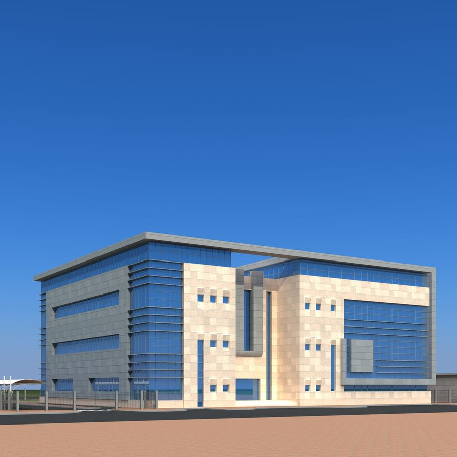 Architecture Office Building royalty-free 3d model - Preview no. 17