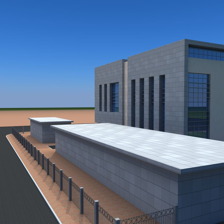 Architecture Office Building royalty-free 3d model - Preview no. 8