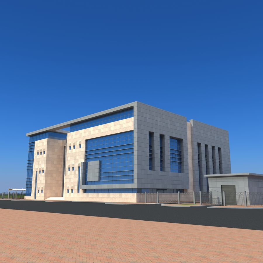 Edificio de oficinas de arquitectura royalty-free modelo 3d - Preview no. 15