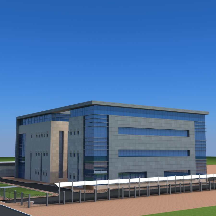 Architecture Office Building royalty-free 3d model - Preview no. 1