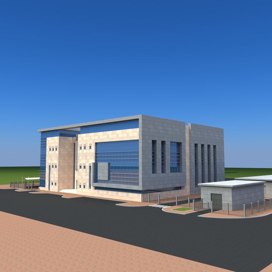 Architecture Office Building royalty-free 3d model - Preview no. 16