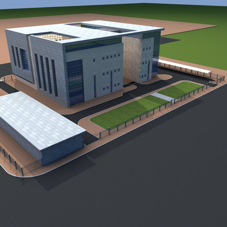 Architecture Office Building royalty-free 3d model - Preview no. 6