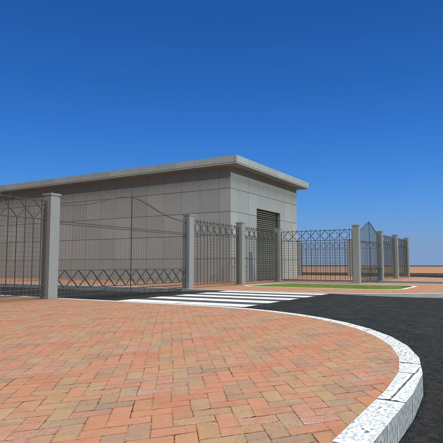 Edificio de oficinas de arquitectura royalty-free modelo 3d - Preview no. 11