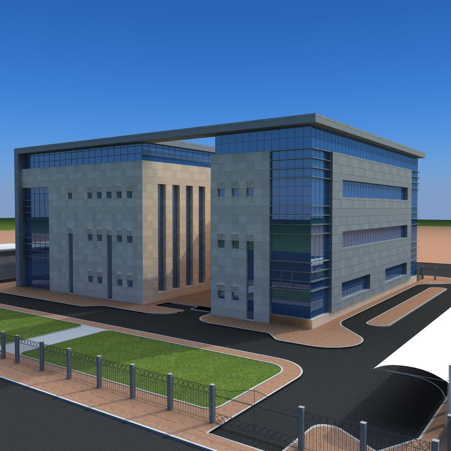 Architecture Office Building royalty-free 3d model - Preview no. 2