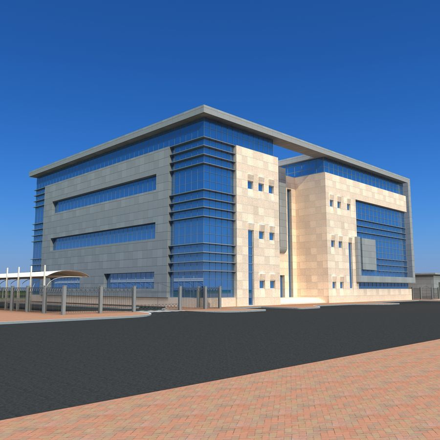 Architecture Office Building royalty-free 3d model - Preview no. 14