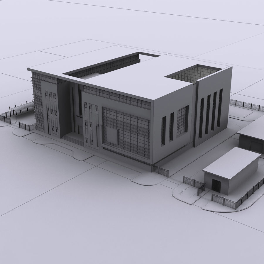 Edificio de oficinas de arquitectura royalty-free modelo 3d - Preview no. 19