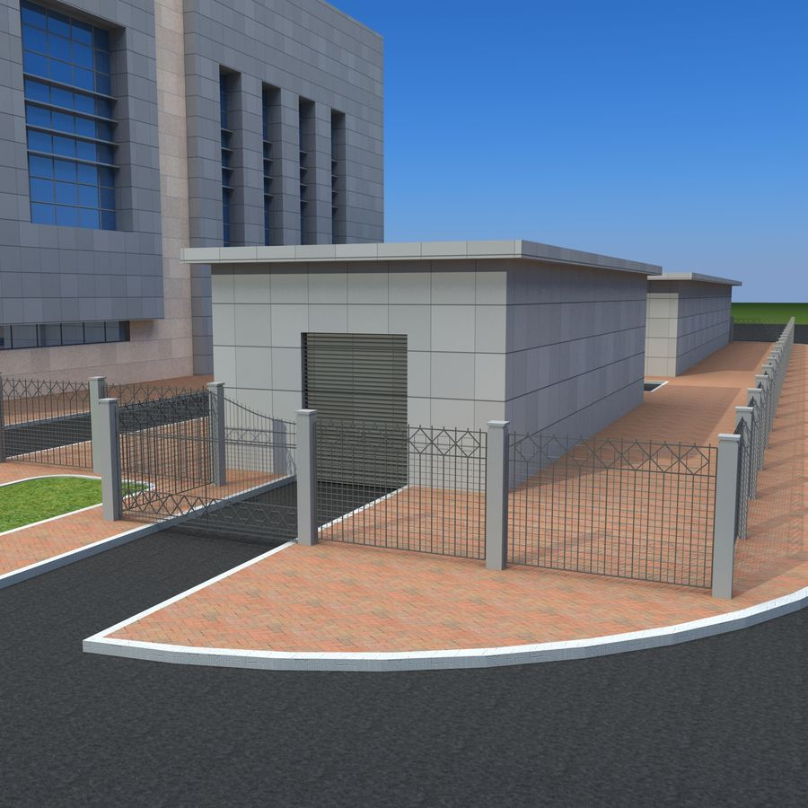 Edificio de oficinas de arquitectura royalty-free modelo 3d - Preview no. 9