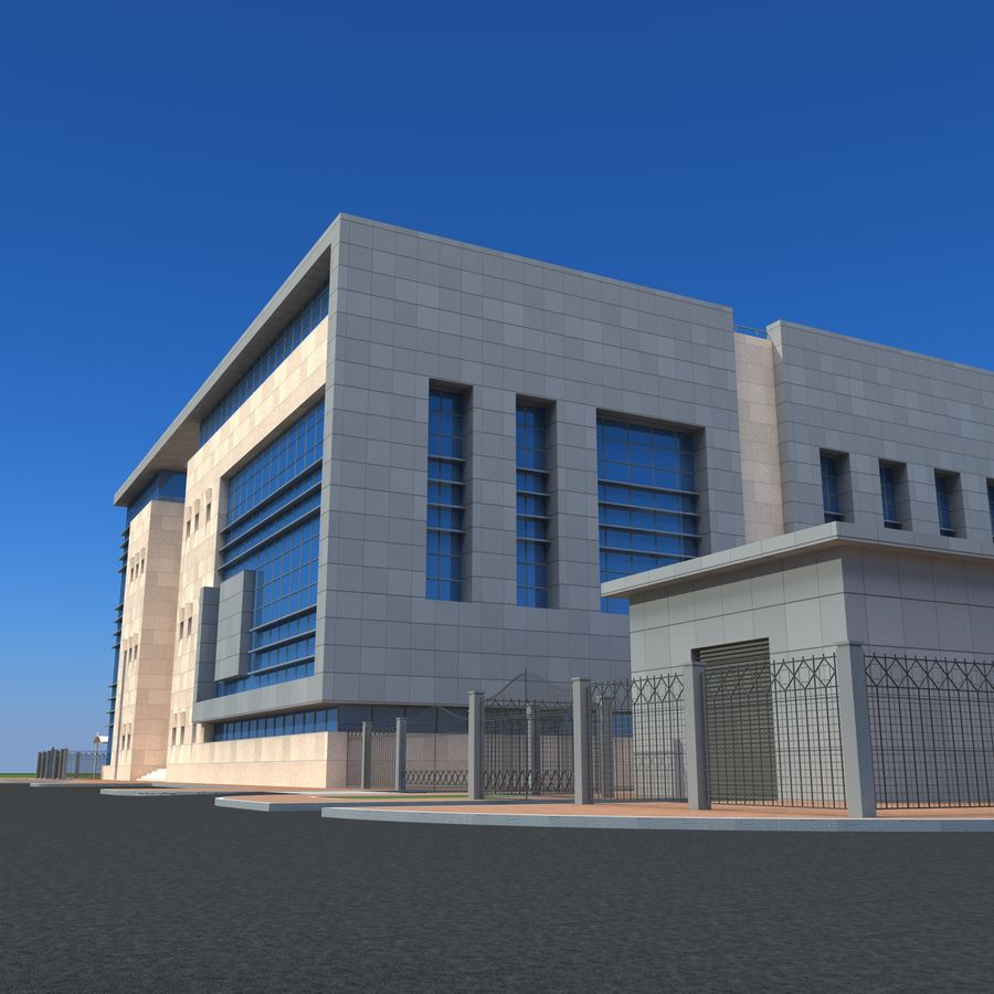 Architecture Office Building royalty-free 3d model - Preview no. 12