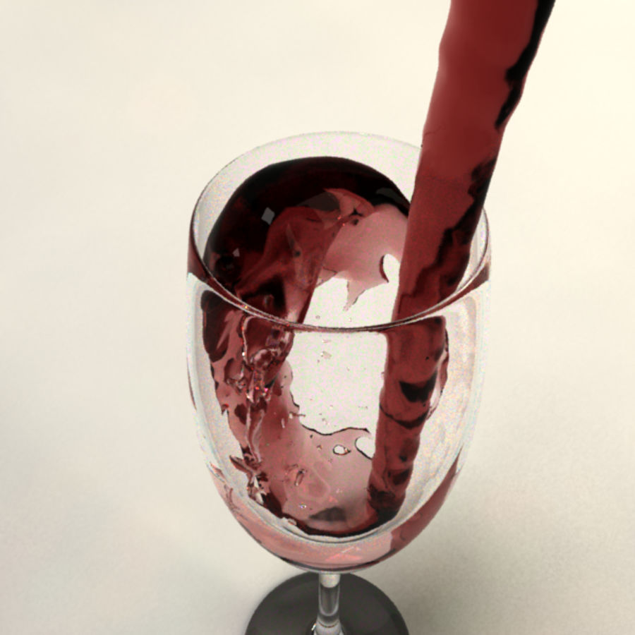 Wine Splash royalty-free 3d model - Preview no. 4