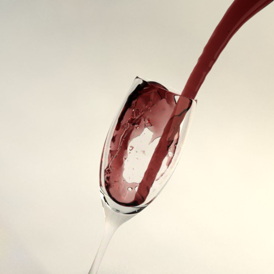 Wine Splash royalty-free 3d model - Preview no. 2