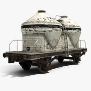 Cementowy wagon czołgowy 3d model