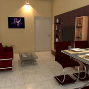 Salotto Gold 3d model