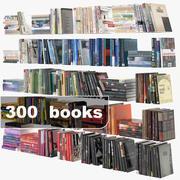 300 books 3d model