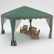 Auvent de fête de jardin 3d model