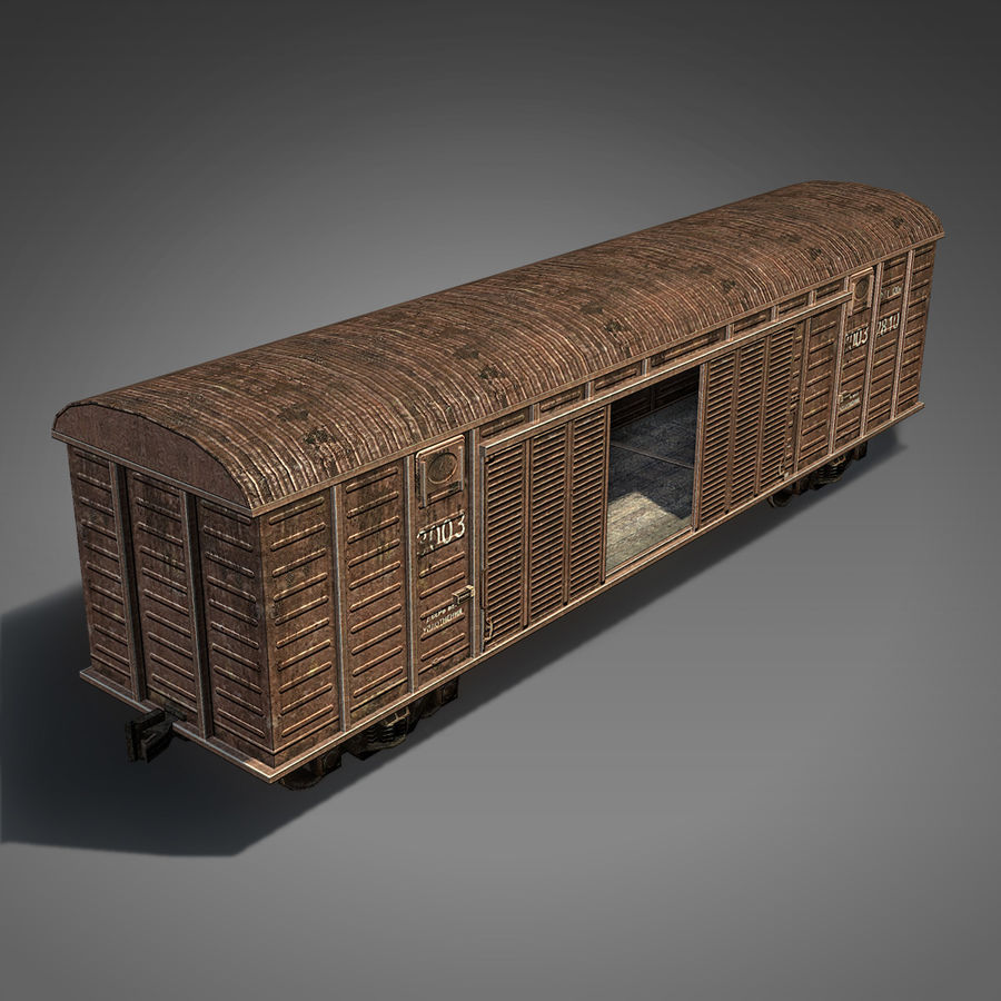 Wagon royalty-free 3d model - Preview no. 3