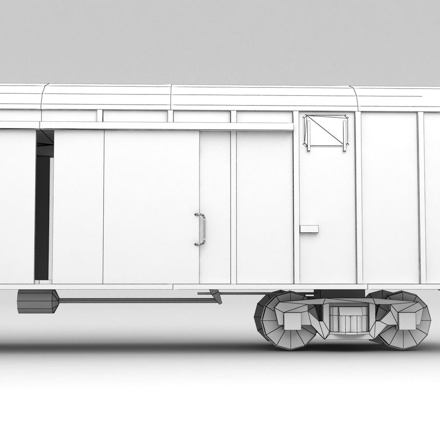 Güterwagen royalty-free 3d model - Preview no. 10