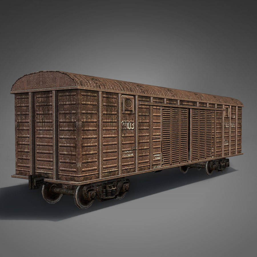 Güterwagen royalty-free 3d model - Preview no. 5