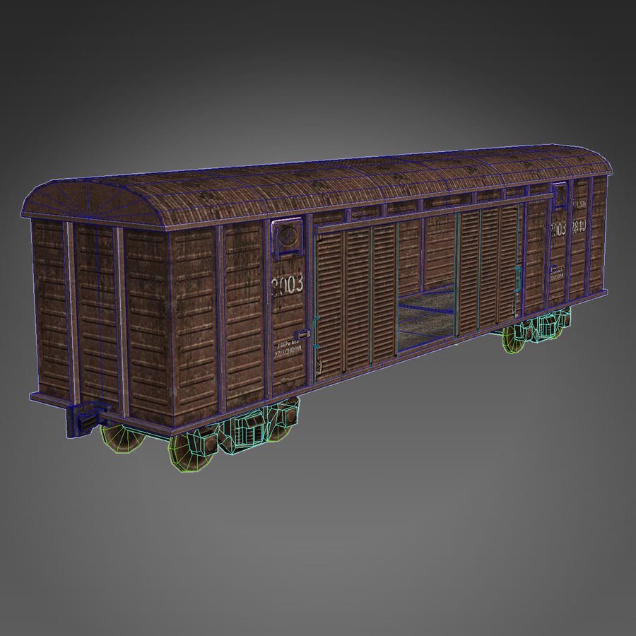 Güterwagen royalty-free 3d model - Preview no. 6